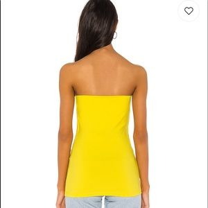 Susana Monaco Tops - Tube top in yellow tail *Free gift with purchase!*